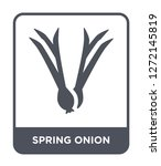 spring onion icon vector on...   Shutterstock .eps vector #1272145819