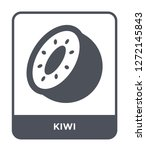 kiwi icon vector on white... | Shutterstock .eps vector #1272145843