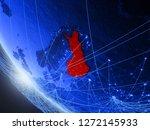 finland on blue digital planet...   Shutterstock . vector #1272145933