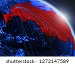 russia from space on model of...   Shutterstock . vector #1272147589