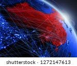 china from space on model of...   Shutterstock . vector #1272147613