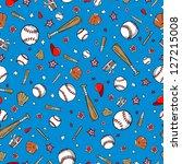 baseball sports seamless... | Shutterstock .eps vector #127215008