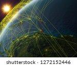 caribbean on model of planet...   Shutterstock . vector #1272152446