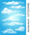 background with clouds on blue... | Shutterstock .eps vector #1272154486