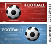 2 banner soccer football poster ...   Shutterstock .eps vector #1272154666
