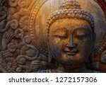 Rock Buddha Statue With...
