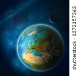 ukraine from space on planet...   Shutterstock . vector #1272157363