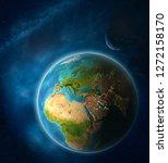 jordan from space on planet...   Shutterstock . vector #1272158170