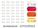 adhesive vector price tags... | Shutterstock .eps vector #1272159313