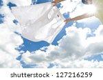 Stock photo clothes line 127216259