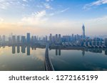 modern cities and bridges in... | Shutterstock . vector #1272165199