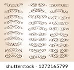 set of retro text dividers and... | Shutterstock .eps vector #1272165799