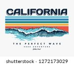 california beach text with... | Shutterstock .eps vector #1272173029