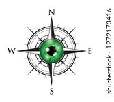 green realistic eyeball on a... | Shutterstock .eps vector #1272173416