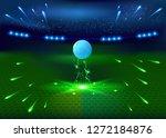 soccer night stadium   abstract ... | Shutterstock .eps vector #1272184876