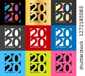colored happy new year 2020... | Shutterstock .eps vector #1272185083