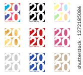 colored happy new year 2020... | Shutterstock .eps vector #1272185086