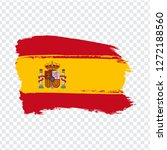 flag spain from brush strokes.  ...