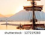 Mast Frigate Amid Bay Of Alanya....
