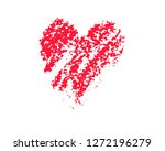 faded red heart vector... | Shutterstock .eps vector #1272196279