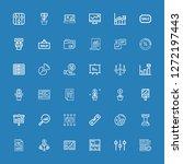 editable 36 diagram icons for... | Shutterstock .eps vector #1272197443