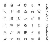 editable 36 iron icons for web... | Shutterstock .eps vector #1272197596
