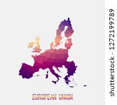 european union eu map in... | Shutterstock .eps vector #1272199789