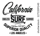 california endless summer ... | Shutterstock .eps vector #1272209140