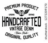 vintage denim  premium product  ... | Shutterstock .eps vector #1272209170