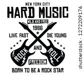 new york city rock and roll ... | Shutterstock .eps vector #1272209176