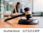 judge gavel with justice... | Shutterstock . vector #1272211309