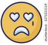 crying  weeping vector icon  | Shutterstock .eps vector #1272221119
