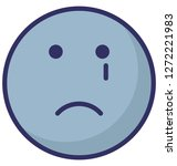 weeping  crying vector icon  | Shutterstock .eps vector #1272221983