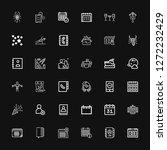 editable 36 calendar icons for...