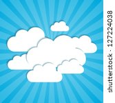 frames in the form of clouds on ... | Shutterstock .eps vector #127224038
