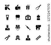 vector illustration of 16 icons....   Shutterstock .eps vector #1272247570
