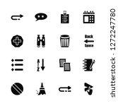 vector illustration of 16 icons....   Shutterstock .eps vector #1272247780