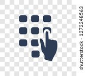 hand dial icon. trendy hand... | Shutterstock .eps vector #1272248563