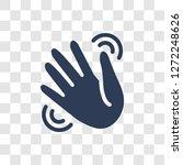 waving hand icon. trendy waving ... | Shutterstock .eps vector #1272248626