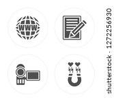 4 web  camcorder  script ... | Shutterstock .eps vector #1272256930
