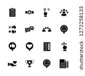 vector illustration of 16 icons.... | Shutterstock .eps vector #1272258133