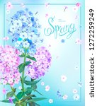 beautiful floral background... | Shutterstock .eps vector #1272259249