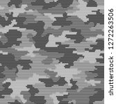 linear camouflage seamless... | Shutterstock .eps vector #1272263506