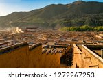 view of monk living quarters at ... | Shutterstock . vector #1272267253