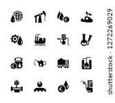 vector illustration of 16 icons.... | Shutterstock .eps vector #1272269029