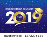 graduating class of 2019 vector ... | Shutterstock .eps vector #1272276166