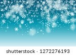 christmas snow flakes... | Shutterstock .eps vector #1272276193