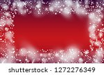 christmas snow flakes... | Shutterstock .eps vector #1272276349