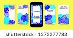 stories template design. tropic ... | Shutterstock .eps vector #1272277783