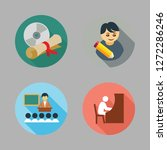 academic icon set. vector set... | Shutterstock .eps vector #1272286246